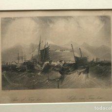 Arte: PUERTO DE LA CIUDAD DE TING-HAE (CHINA, ASIA), HACIA 1840. GRAHAM/PAINE. Lote 192978610