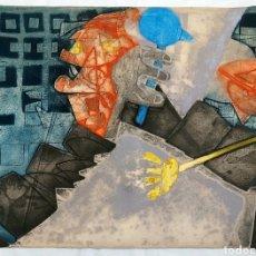 Arte: GERARD FITREMANN (FRANCIA 1946) GRABADO 89/90 TETE A GRAIN 1974. Lote 193064788