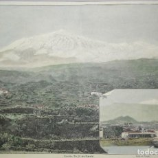 Arte: VISTA DE LA MONTANA TEIDE, TENERIFE DEL SIGLO XIX. Lote 193258730