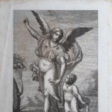 Arte: GRABADO RAFAEL ARCANGEL DEL SIGLO XVIII. ROGAMOS LEER BIEN LAS CONDICIONES ANTES DE PUJAR.. Lote 42217741