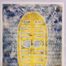 Arte: GRABADO DE GRAN FORMATO 75X57CM DE LA ARTISTA MAYTE BENET FIRMADO Y NUMERADO A MANO 19/100. Lote 193316251