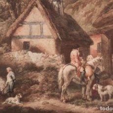 Arte: THE WEDD BURNER _ AFTER GEORGE MORLAND. Lote 193340862