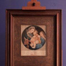 Arte: VIRGEN DE LA SILLA _RAFFAELLO MORGHEN AFTER RAPHAEL DA URBINO. Lote 193347250