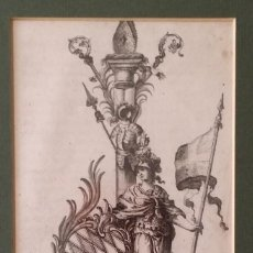 Arte: MASCARON (MINERVA), AGUAFUERTE SIGLO XVII. Lote 193352855