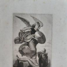 Arte: GRABADO ARCANGEL MIGUEL CONTRA EL DIABLO , DEL SIGLO XIX. LEER LAS CONDICIONES ANTES DE PUJAR.. Lote 193372008