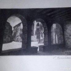 Arte: ~~~~ GRABADO PRUEBA DE ARTISTA, VICENTE ARMIÑANA, ALBARRACIN. ~~~~. Lote 193394261