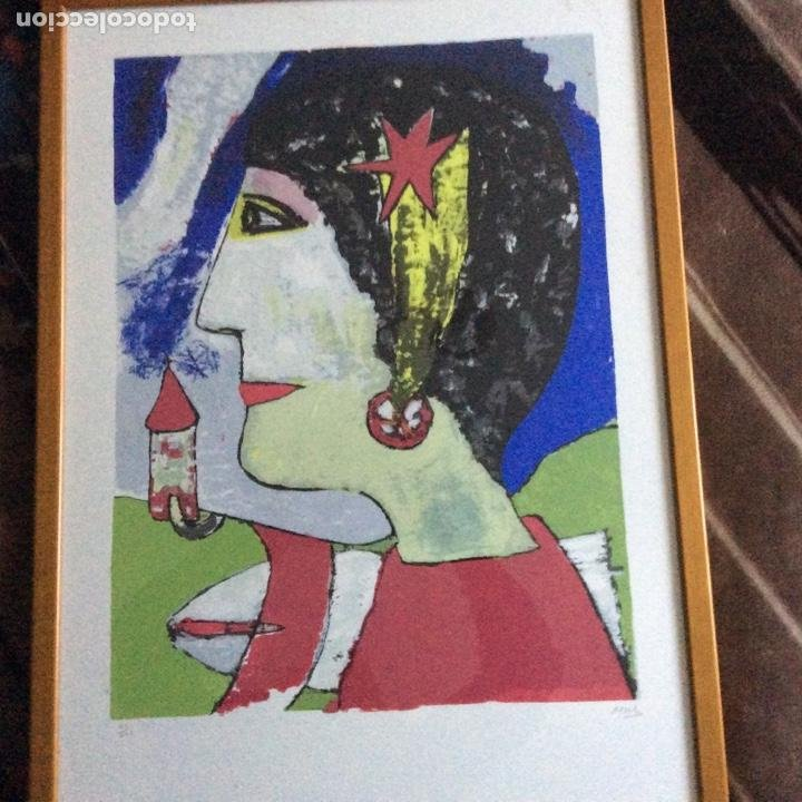 GRABADO SIGLO XX CON FIRMA DEL AUTOR (Arte - Grabados - Contemporáneos siglo XX)