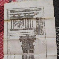 Arte: 1738. GRABADO COLUMNA GRIEGA. ESCUELA DE ARQUITECTURA CIVIL.. Lote 193570720