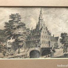 Arte: VISTA DE LA CIUDAD DE FRANEKER (PAÍSES BAJOS, EUROPA), 1754. ANÓNIMO. Lote 193582647