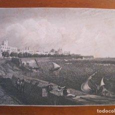 Arte: VISTA DEL PUERTO Y CIUDAD DE CÁDIZ (ANDALUCÍA, ESPAÑA), HACIA 1850.. Lote 193646456
