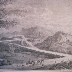 Arte: RUTA POR LAS MONTAÑAS DE BALAGUER (LÉRIDA, CATALUÑA, ESPAÑA), HACIA 1850. ANÓNIMO. Lote 193651736