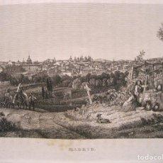 Arte: VISTA DEL CAMPO A LAS AFUERAS DE MADRID (ESPAÑA),1836. ANÓNIMO. Lote 193657383