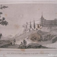 Arte: VISTA DE LA FACHADA POSTERIOR DEL PALACIO REAL DE MADRID (ESPAÑA), 1836. ANÓNIMO. Lote 193657580