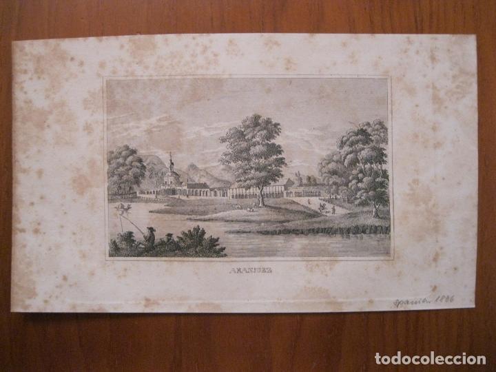 Arte: Vista de los jardines de Aranjuez (Madrid, España), 1836. Anónimo - Foto 2 - 193659000
