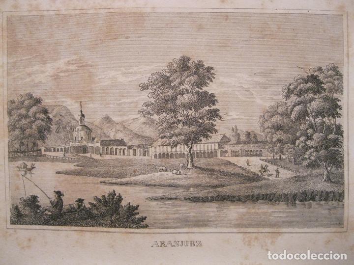 VISTA DE LOS JARDINES DE ARANJUEZ (MADRID, ESPAÑA), 1836. ANÓNIMO (Arte - Grabados - Modernos siglo XIX)