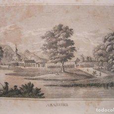 Arte: VISTA DE LOS JARDINES DE ARANJUEZ (MADRID, ESPAÑA), 1836. ANÓNIMO. Lote 193659000
