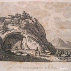 Arte: VISTA DE LA CUEVA DE SAN ADRIAN (GUIPUZCOA, ESPAÑA), 1836. ANÓNIMO. Lote 193659136
