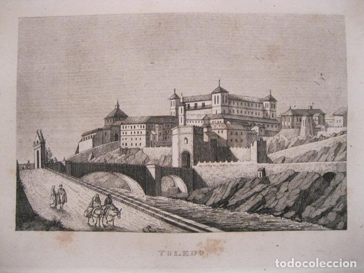 VISTA PANORÁMICA DE LA CIUDAD DE TOLEDO (CASTILLA, ESPAÑA), 1836. ANÓNIMO (Arte - Grabados - Modernos siglo XIX)