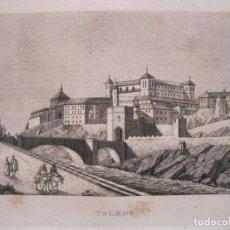 Arte: VISTA PANORÁMICA DE LA CIUDAD DE TOLEDO (CASTILLA, ESPAÑA), 1836. ANÓNIMO. Lote 193661017