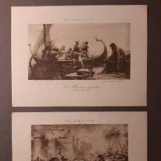 Arte: DOS BONITOS FOTOGRABADOS FRANCESES. Lote 193734105