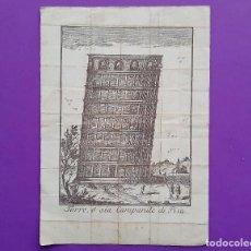 Arte: TORRE Ò SIA CAMPANILE DI PISA TORRE O AMBOS CAMPANARIOS PISA SE APRECIA TIRALINEAS COMPROBAR DESNIVE. Lote 193755313