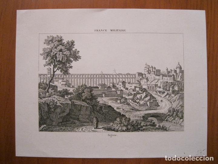 Arte: Vista de la ciudad de Segovia, (España), ha cia 1835. Anónimo. - Foto 2 - 193865612