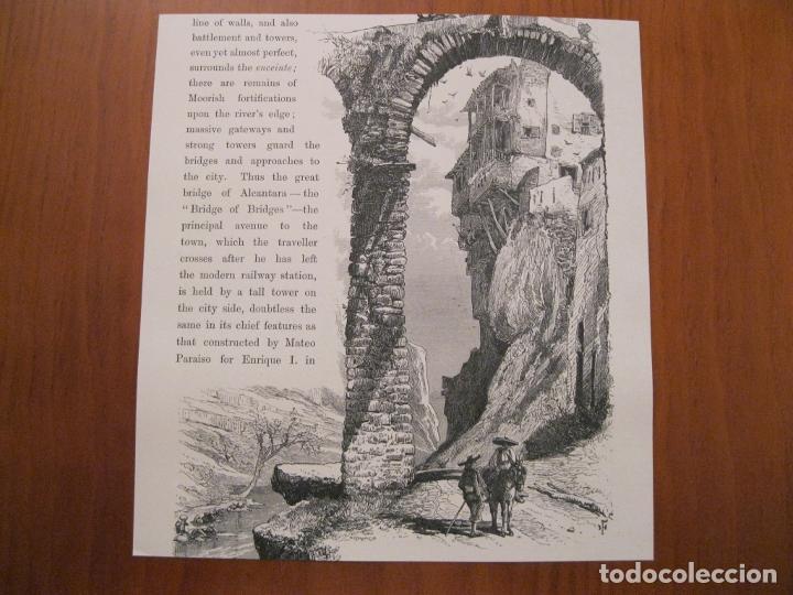 Arte: Puerta del Sol en Toledo y puente de S. Pablo en Cuenca (España), hacia 1840. Anónimo - Foto 3 - 193867226