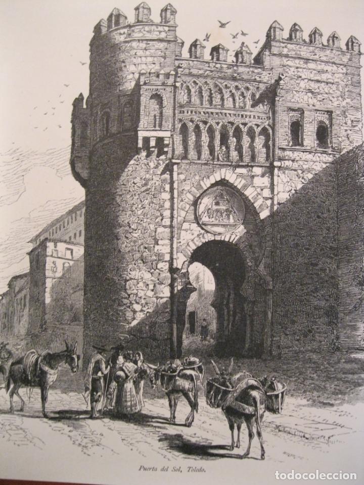 PUERTA DEL SOL EN TOLEDO Y PUENTE DE S. PABLO EN CUENCA (ESPAÑA), HACIA 1840. ANÓNIMO (Arte - Grabados - Modernos siglo XIX)