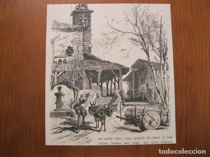 Arte: Antigua Plaza de la Constitución de Vitoria, Álava ( España) y vista rural , hacia 1840. Anónimo - Foto 2 - 193868118