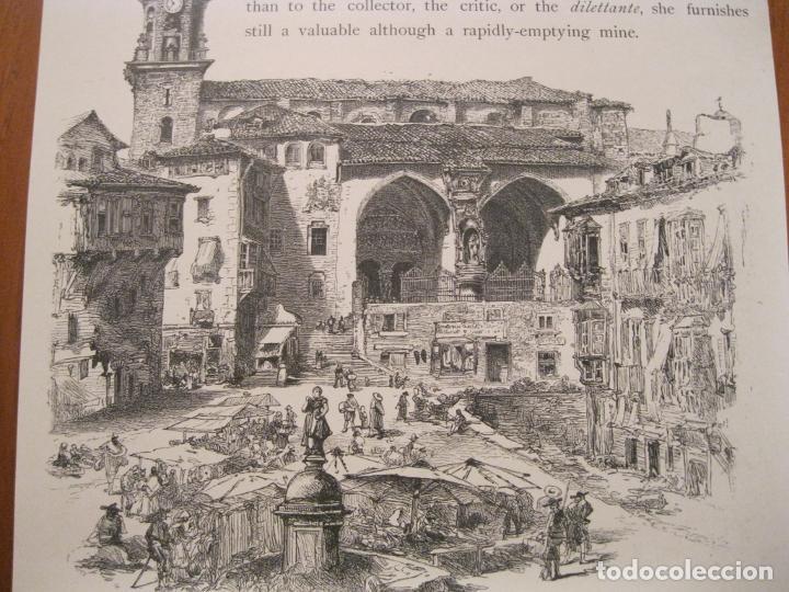 Arte: Antigua Plaza de la Constitución de Vitoria, Álava ( España) y vista rural , hacia 1840. Anónimo - Foto 4 - 193868118