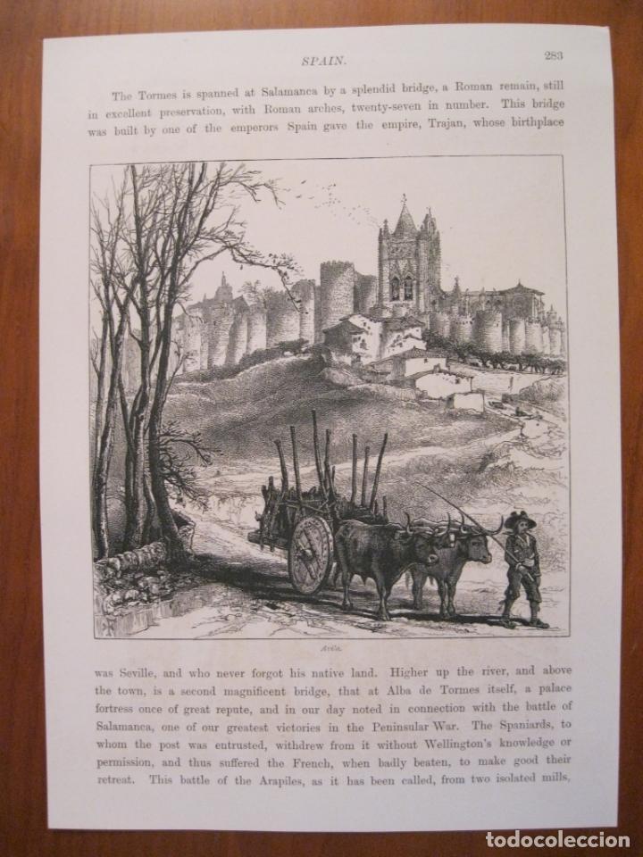 Arte: Plaza del mercado en Segovia y murallas de Ávila (España), ca. 1840. Anónimo - Foto 3 - 193868410