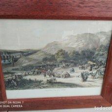 Arte: CUADRO ENMARCADO GRABADO PRADERA DE SAN ISIDRO AÑOS 50 VINTAGE. Lote 193874358