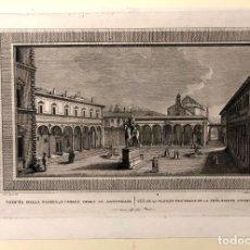 Arte: GRABADO VEDUTA DELLA PIAZZA, E CHIESA DELLA SS. ANNUNZIATA. FLORENCIA. ITALIA. SIGLO XVIII. Lote 193910271
