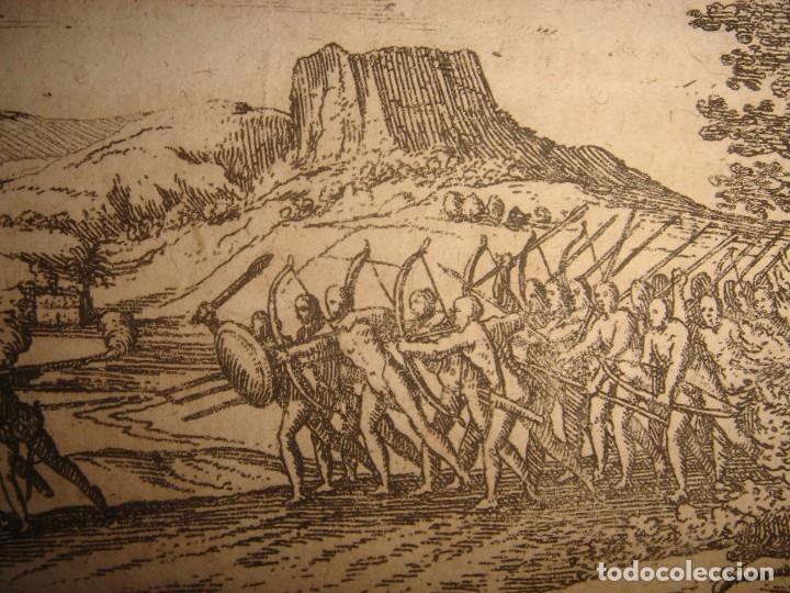 Arte: RARÍSIMO GRABADO BATALLA MABILIA, ALABAMA, SOTO / TUSKALOOSA, USA, ORIGINAL, DE BRY, FRANKFURT,1655 - Foto 7 - 193943991