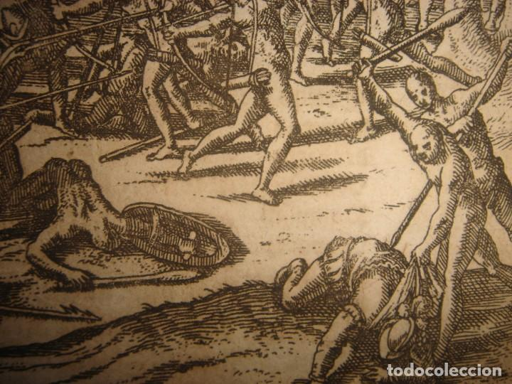 Arte: RARÍSIMO GRABADO BATALLA MABILIA, ALABAMA, SOTO / TUSKALOOSA, USA, ORIGINAL, DE BRY, FRANKFURT,1655 - Foto 8 - 193943991