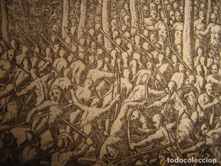 Arte: RARÍSIMO GRABADO BATALLA MABILIA, ALABAMA, SOTO / TUSKALOOSA, USA, ORIGINAL, DE BRY, FRANKFURT,1655 - Foto 9 - 193943991
