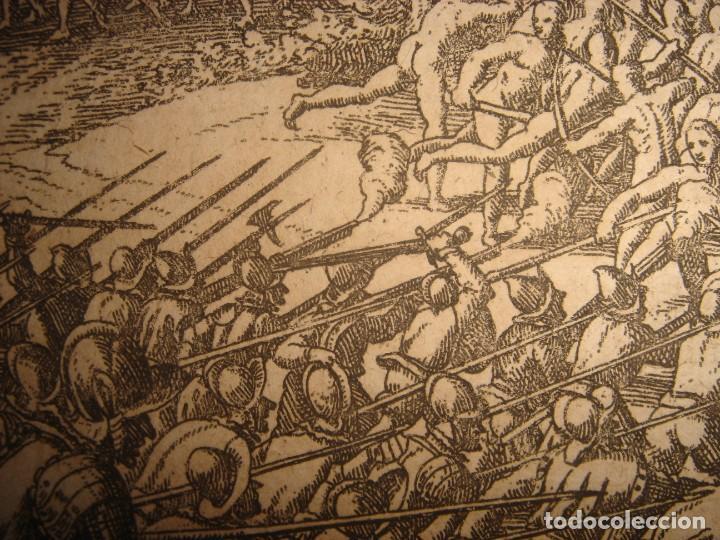 Arte: RARÍSIMO GRABADO BATALLA MABILIA, ALABAMA, SOTO / TUSKALOOSA, USA, ORIGINAL, DE BRY, FRANKFURT,1655 - Foto 10 - 193943991