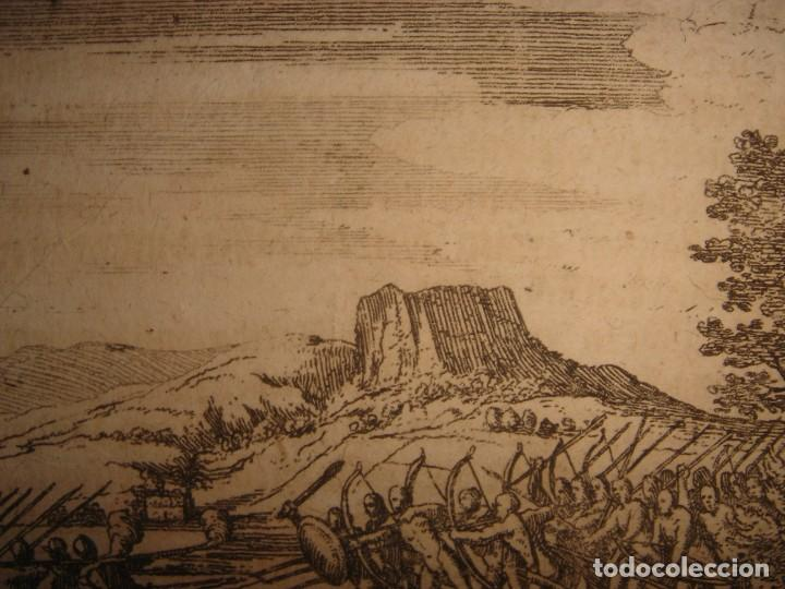 Arte: RARÍSIMO GRABADO BATALLA MABILIA, ALABAMA, SOTO / TUSKALOOSA, USA, ORIGINAL, DE BRY, FRANKFURT,1655 - Foto 12 - 193943991