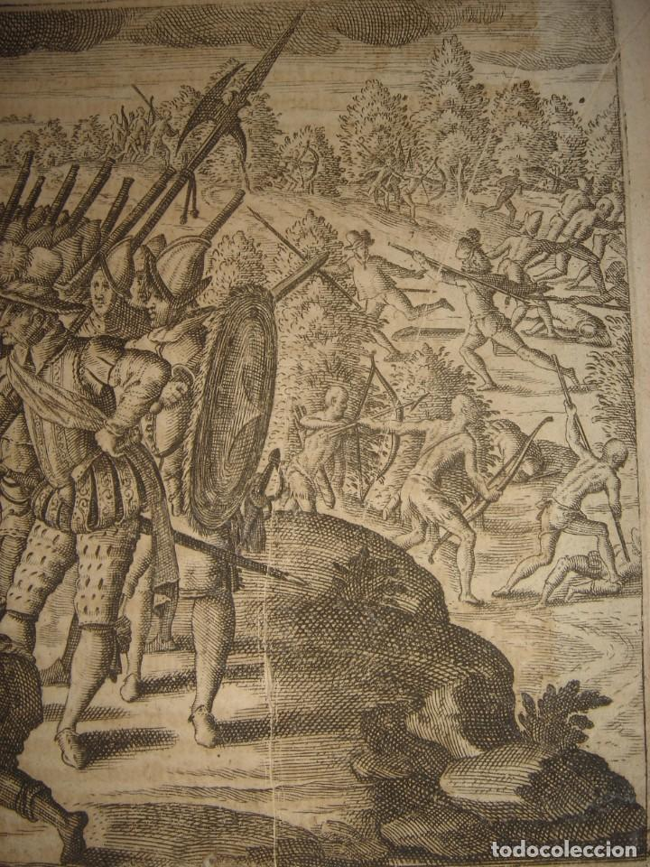 Arte: RARÍSIMO GRABADO, IRALA EJECUTA EN LA HOGURERA INDIOS PAYAGUES, ORIGINAL, DE BRY, FRANKFURT,1655. - Foto 5 - 193944345