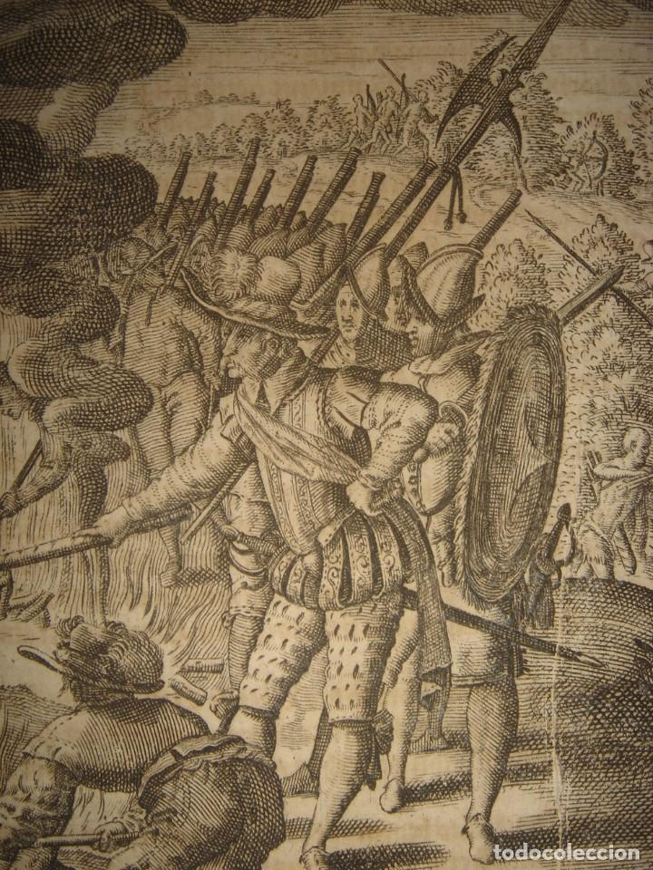Arte: RARÍSIMO GRABADO, IRALA EJECUTA EN LA HOGURERA INDIOS PAYAGUES, ORIGINAL, DE BRY, FRANKFURT,1655. - Foto 7 - 193944345