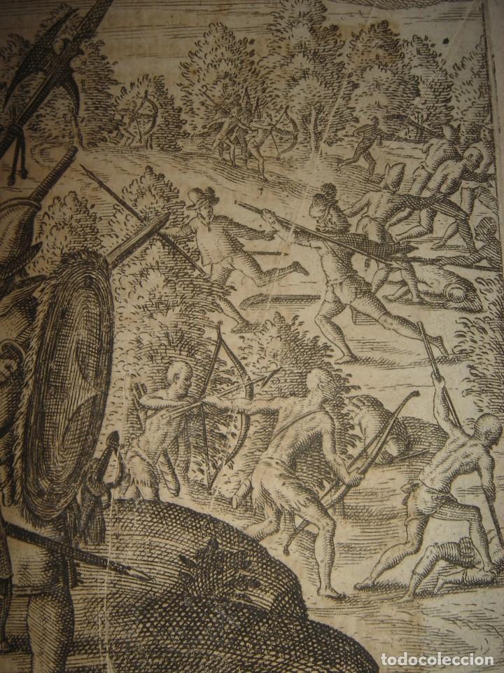 Arte: RARÍSIMO GRABADO, IRALA EJECUTA EN LA HOGURERA INDIOS PAYAGUES, ORIGINAL, DE BRY, FRANKFURT,1655. - Foto 8 - 193944345