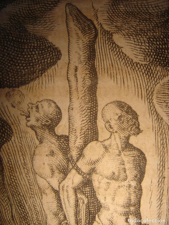 Arte: RARÍSIMO GRABADO, IRALA EJECUTA EN LA HOGURERA INDIOS PAYAGUES, ORIGINAL, DE BRY, FRANKFURT,1655. - Foto 9 - 193944345