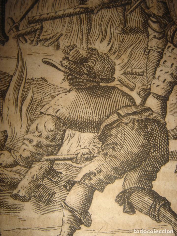 Arte: RARÍSIMO GRABADO, IRALA EJECUTA EN LA HOGURERA INDIOS PAYAGUES, ORIGINAL, DE BRY, FRANKFURT,1655. - Foto 10 - 193944345