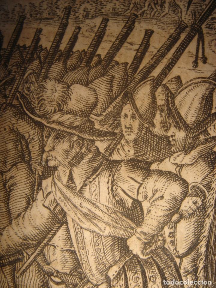 Arte: RARÍSIMO GRABADO, IRALA EJECUTA EN LA HOGURERA INDIOS PAYAGUES, ORIGINAL, DE BRY, FRANKFURT,1655. - Foto 11 - 193944345