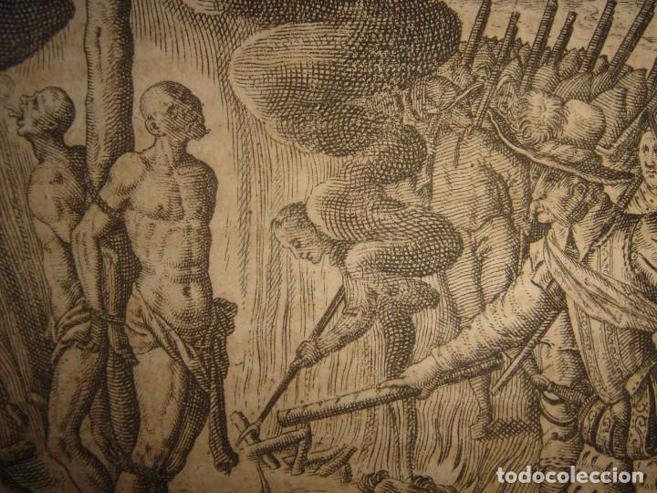 Arte: RARÍSIMO GRABADO, IRALA EJECUTA EN LA HOGURERA INDIOS PAYAGUES, ORIGINAL, DE BRY, FRANKFURT,1655. - Foto 12 - 193944345