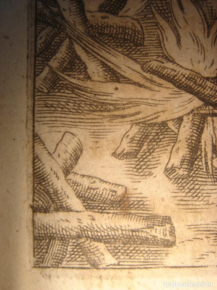 Arte: RARÍSIMO GRABADO, IRALA EJECUTA EN LA HOGURERA INDIOS PAYAGUES, ORIGINAL, DE BRY, FRANKFURT,1655. - Foto 14 - 193944345