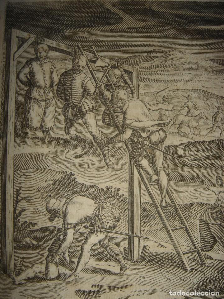 Arte: RARÍSIMO GRABADO, ANTROPOFAGIA ENTRE ESPAÑOLES EN BUENOS AIRES, ORIGINAL, DE BRY, FRANKFURT,1655. - Foto 2 - 193944657