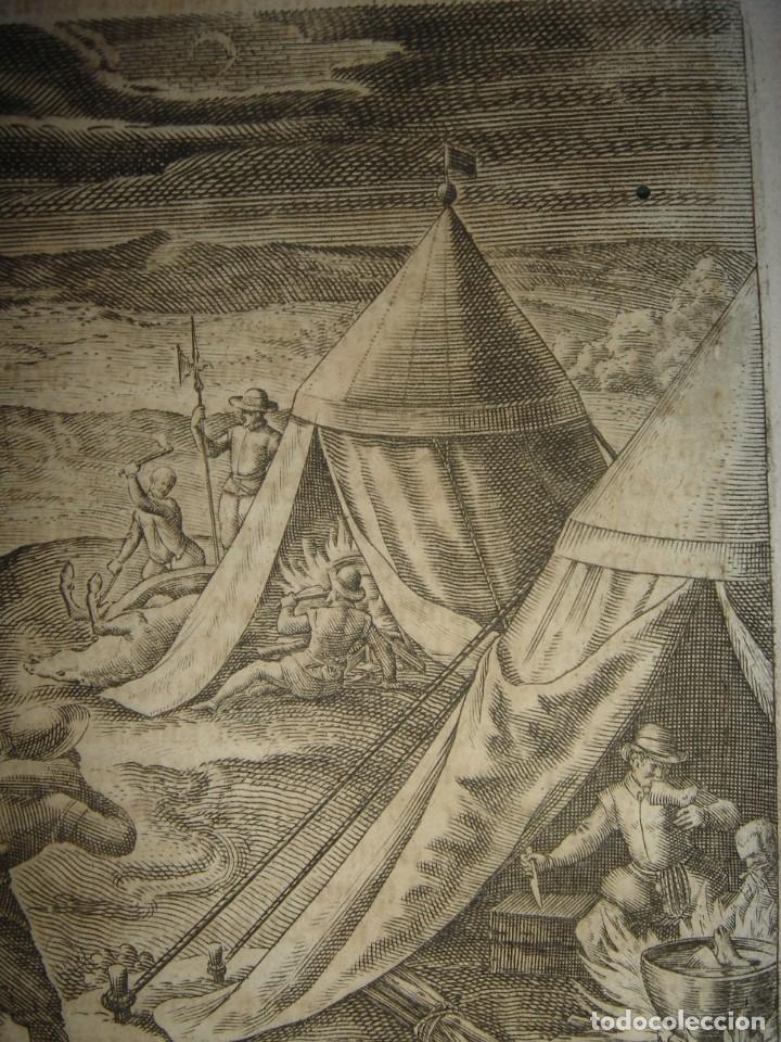 Arte: RARÍSIMO GRABADO, ANTROPOFAGIA ENTRE ESPAÑOLES EN BUENOS AIRES, ORIGINAL, DE BRY, FRANKFURT,1655. - Foto 4 - 193944657