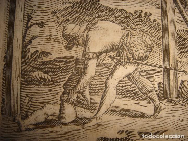 Arte: RARÍSIMO GRABADO, ANTROPOFAGIA ENTRE ESPAÑOLES EN BUENOS AIRES, ORIGINAL, DE BRY, FRANKFURT,1655. - Foto 6 - 193944657