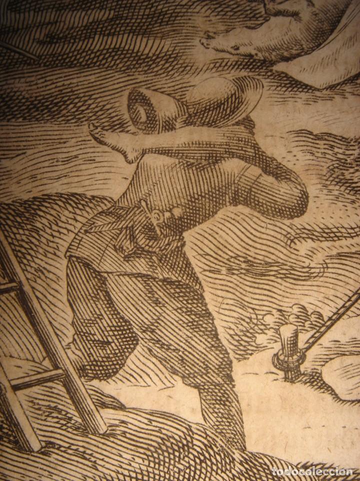 Arte: RARÍSIMO GRABADO, ANTROPOFAGIA ENTRE ESPAÑOLES EN BUENOS AIRES, ORIGINAL, DE BRY, FRANKFURT,1655. - Foto 7 - 193944657